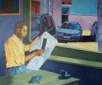Obras de arte: Europa : España : Castilla_y_León_Burgos : burgos : Leyendo el periodico