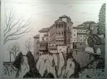 Obras de arte:  : España : Castilla_y_León_Palencia : palencia : casas colgadas de cuenca