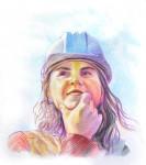 Obras de arte: America : Colombia : Santander_colombia : Bucaramanga : Retrato mujer