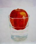 Obras de arte: Europa : España : Catalunya_Barcelona : Barcelona : Manzana flotando.