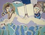 Obras de arte: Europa : Francia : Nord-Pas-de-Calais : LONGUENESSE : Le peintre et son modèle