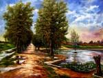 Obras de arte: Europa : España : Madrid : Las_Rozas : Laguna del Lavajo.