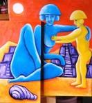 Obras de arte: America : México : Chihuahua : ciudad_juarez : madre e hijo