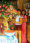 Obras de arte: Europa : España : Galicia_Pontevedra : pontevedra : PINTANDO EN EL INVERNADERO