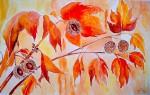 Obras de arte:  : España : Andalucía_Almería : Mojacar : castaño en otoño