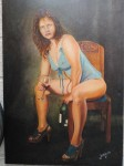 Obras de arte:  : Colombia : Antioquia : Medellin : Mujer , vino y bohemia