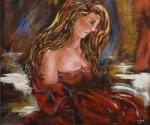 Obras de arte: Europa : España : Aragón_Zaragoza : zaragoza_ciudad : La dama de rojo