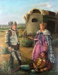 Obras de arte:  : España : Castilla_y_León_Valladolid : Valladolid_ciudad. : D. Quijote vence al valeroso vizcaíno