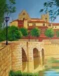 Obras de arte: Europa : España : Castilla_y_León_Burgos : burgos : Palencia (Puentecillas y Catedral)