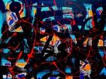 Obras de arte: Europa : España : Andalucía_Granada : Motril : Trazos con fondo Celeste