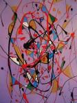 Obras de arte: Europa : España : Andalucía_Granada : Motril : Goteo sobre fondo Lila