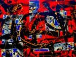 Obras de arte: Europa : España : Andalucía_Granada : Motril : Trazos con fondo Rojo