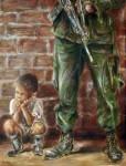 Obras de arte: America : Colombia : Antioquia : Medellín : Niño en medio al conflicto