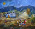 Obras de arte: America : Argentina : Salta : Salta_ciudad : VUELVEN CAYENDO LA TARDE - Vizcachaine, Salta