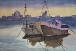 Obras de arte: Europa : España : Castilla_y_León_Burgos : burgos : Amanecer en el puerto
