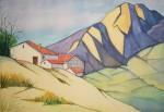 Obras de arte: Europa : España : Castilla_y_León_Burgos : burgos : Casas y montaña