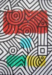Obras de arte:  : España : Catalunya_Barcelona : Barcelona : LINEA Y MANCHA EVOCANDO SOBRE EL PLANO