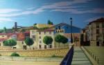 Obras de arte: Europa : España : Castilla_y_León_Burgos : burgos : Desde el puente (Miranda de Ebro)