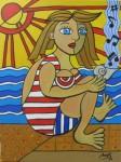 Obras de arte:  : España : Catalunya_Barcelona :  : La chica y la música del mar