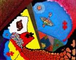 Obras de arte: Europa : España : Catalunya_Barcelona : Castelldefels : Campos de Castilla a vista de pájaro