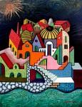 Obras de arte: Europa : España : Catalunya_Barcelona : Castelldefels : Pueblo costero