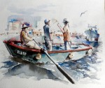 Obras de arte: America : Ecuador : Guayas : GUAYAQUIL : de pesca 2
