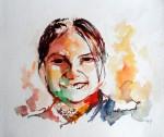 Obras de arte: America : Ecuador : Guayas : GUAYAQUIL : niña sonrisa