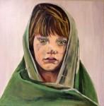 Obras de arte:  : España : Catalunya_Barcelona : Badalona : 1 de la sèrie nens refugiats afganesos