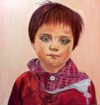 Obras de arte:  : España : Catalunya_Barcelona : Badalona : 2- sèrie nens refugiats afganesos