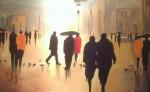 Obras de arte:  : España : Catalunya_Barcelona : Badalona : La pluja
