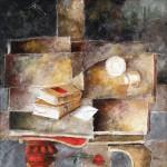 Obras de arte: Europa : España : Castilla_y_León_Salamanca : BéJAR : Un mensaje en la mesa