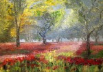 Obras de arte: Europa : España : Catalunya_Barcelona : Mataró : flores rojas