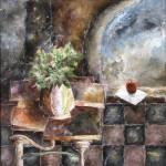 Obras de arte: Europa : España : Castilla_y_León_Salamanca : BéJAR : Manzana en la ventana