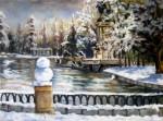 Obras de arte: Europa : España : Madrid : Las_Rozas : Madrid. El Retiro nevado