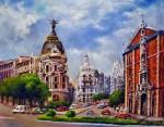 Obras de arte: Europa : España : Madrid : Las_Rozas : Madrid. Gran Vía y Alcalá
