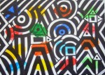 Obras de arte:  : España : Catalunya_Barcelona : Barcelona : LINEA Y COLOR EVOCANDO SOBRE EL PLANO
