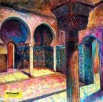 """Obras de arte:  : España : Andalucía_Granada : Granada_ciudad : OBRA """"ALHAMBRA (II)Sala de los Embajadores"""""""""""