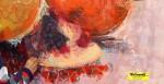"""Obras de arte:  : España : Andalucía_Granada : Granada_ciudad : OBRA EN PROCESO """"GRANADAS ENTRE ROJOS Y PIEL"""""""
