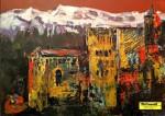 """Obras de arte:  : España : Andalucía_Granada : Granada_ciudad : OBRA """"GRANADA ENTRE BLANCO Y ROJO"""""""