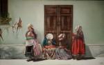 Obras de arte:  : Colombia : Cundinamarca : BOGOTA_D-C- : Viejas tomando el sol en el and�n