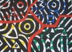 Obras de arte:  : España : Catalunya_Barcelona : Barcelona : BOCETO(LINEA Y COLOR EVOCANDO SOBRE EL PLANO)