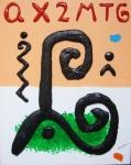 Obras de arte:  : España : Catalunya_Barcelona : Barcelona : ESCRITURA Y SIGNOS NEGROS