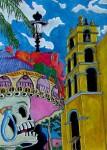 Obras de arte:  : México : Baja_California_Sur : San_Jose_Del_Cabo : Catrina en la Iglesia