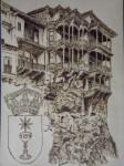 Obras de arte:  : España : Castilla_la_Mancha_Cuenca : cuenca_ciudad : Casas Colgadas