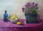 Obras de arte:  : España : Valencia : Alicante : pelargonio y limones