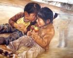 Obras de arte:  : Brasil : Rio_Grande_do_Sul : caxias : Ni�os peruanos y su �ngel