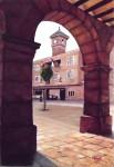 Obras de arte:  : España : Extremadura_Badajoz : Merida_badajoz : ARCO Y AYUNTAMIENTO