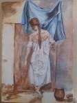 Obras de arte:  : España : Castilla_la_Mancha_Cuenca : cuenca_ciudad : Mujer de espaldas