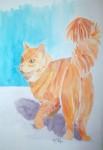 Obras de arte:  : España : Andalucía_Almería : Mojacar : gato peludo