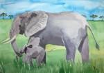 Obras de arte:  : España : Andalucía_Almería : Mojacar : elefantes